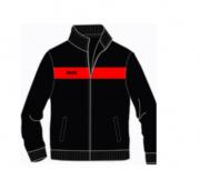 Rozpinana bluza LONSDALE LONDON ALNWICK czarno-czerwona