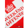 T-shirt WEEKEND OFFENDER PRISON chilli