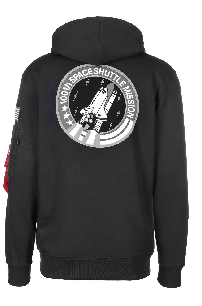 najnowsza kolekcja Kod kuponu nowe wydanie Bluza z kapturem ALPHA INDUSTRIES NASA SHUTTLE HOODY Czarna