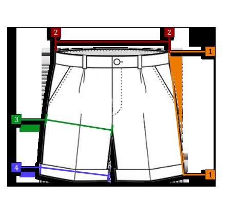 10d9a4056c7a51 Długość szortów: Długość szortów mierzymy z tyłu od samej góry wzdłuż  nogawki do samego dołu. Szerokość: Szerokość szortów mierzymy w pasie.