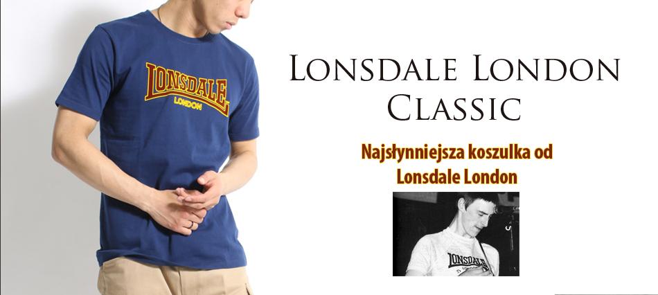 Klasyczne koszulka Lonsdale w kolorze granatowym