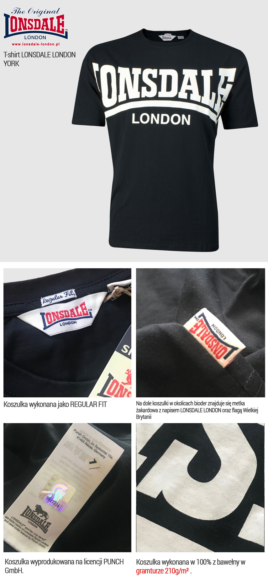 T-shirt Lonsdale London York