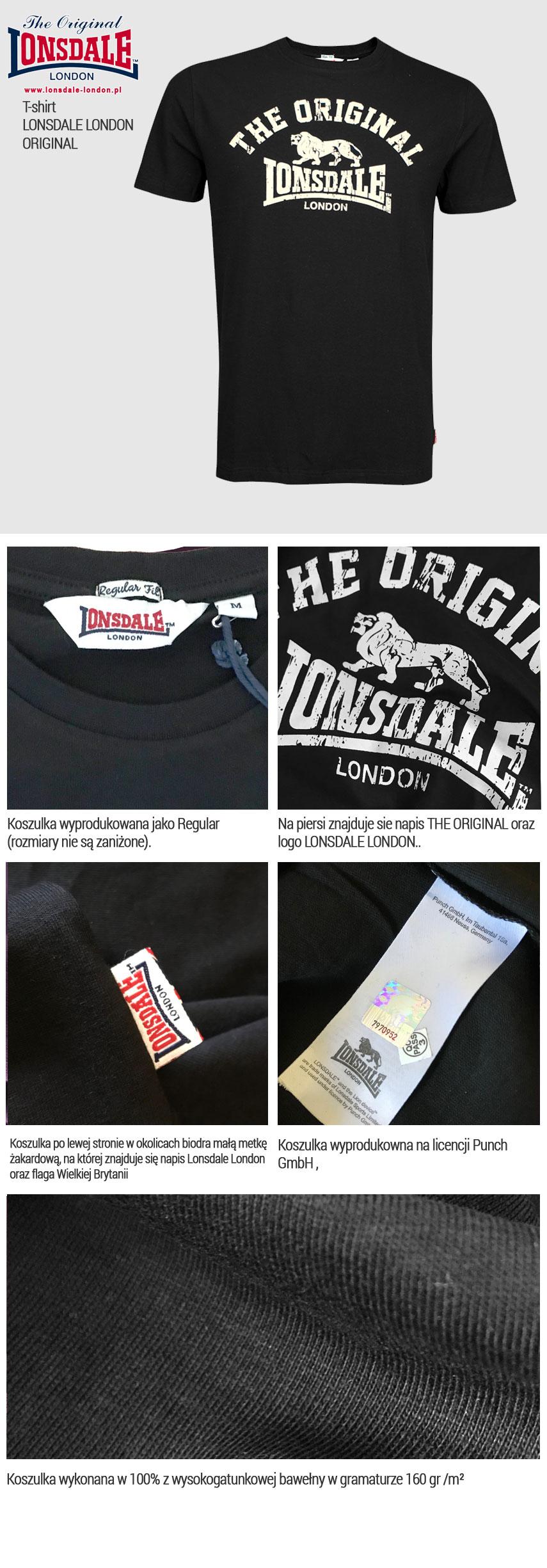 T-shirt Lonsdale London ORIGINAL Czarny class=