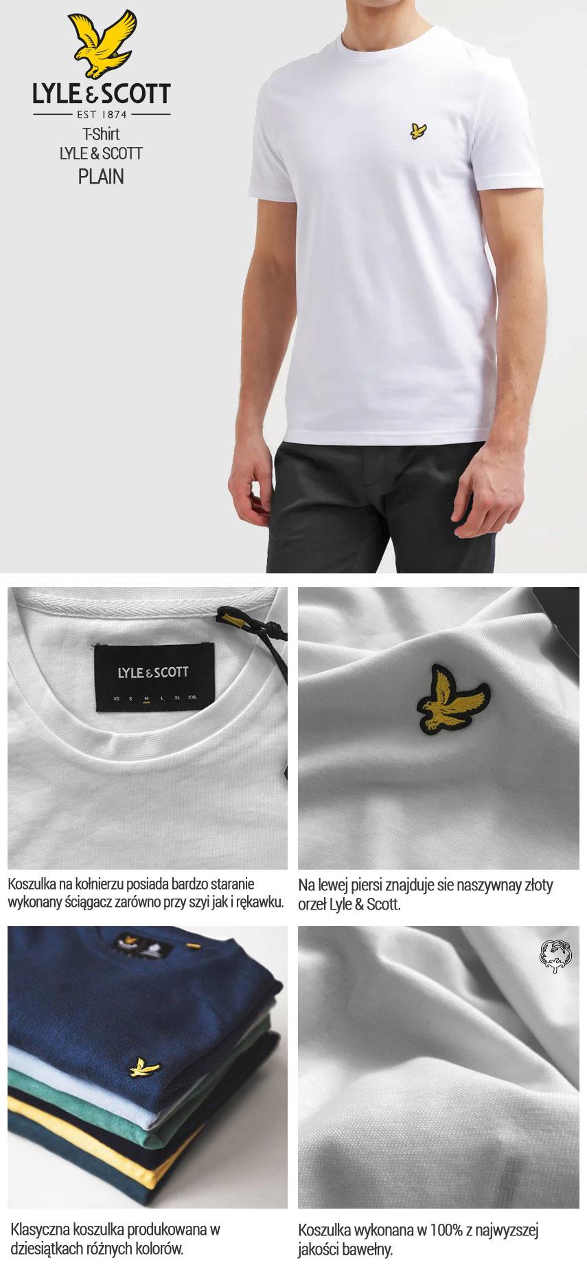 T-Shirt LYLE & SCOTT CREW NECK biały