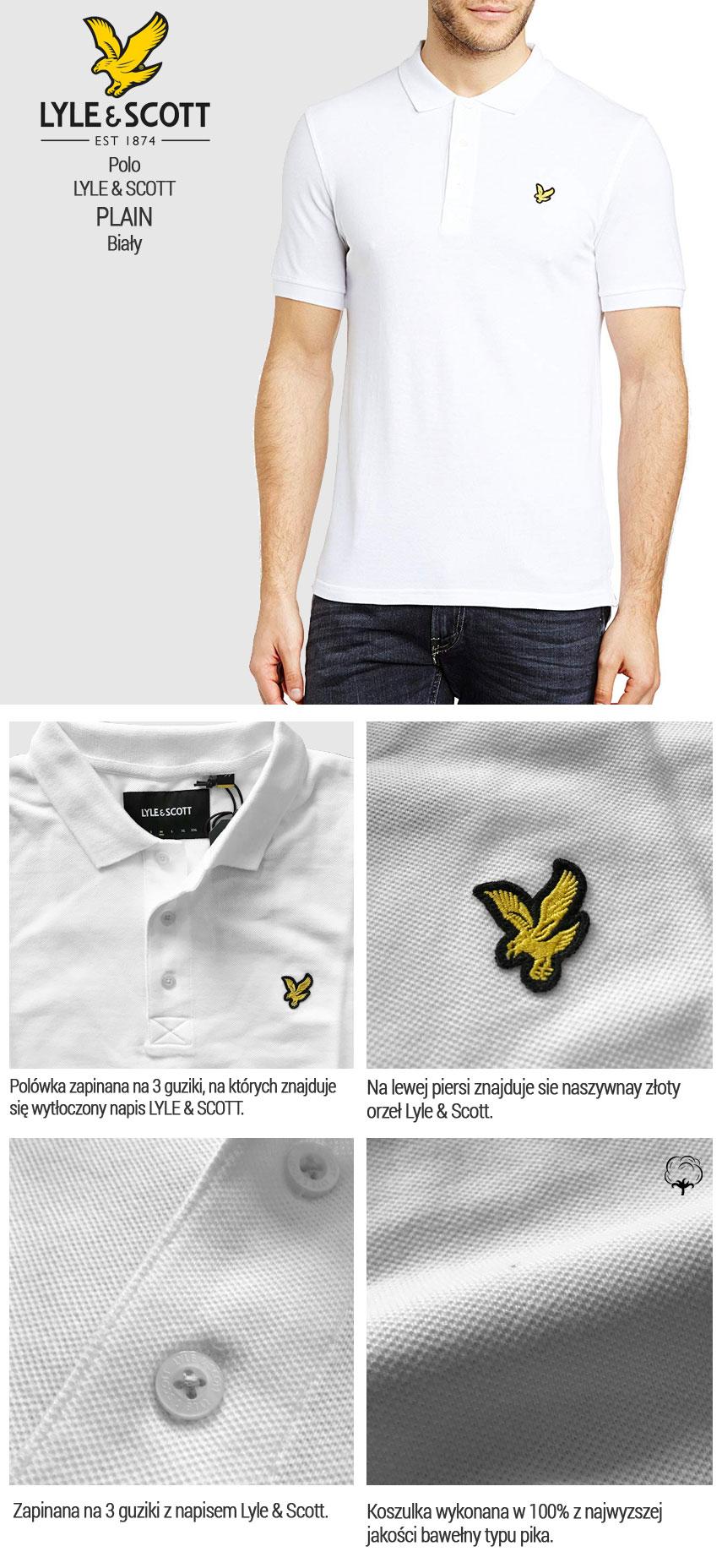 Koszulka Polo LYLE & SCOTT biała