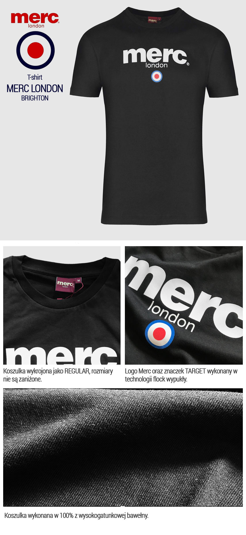 T-shirt Merc London Brighton Czarna