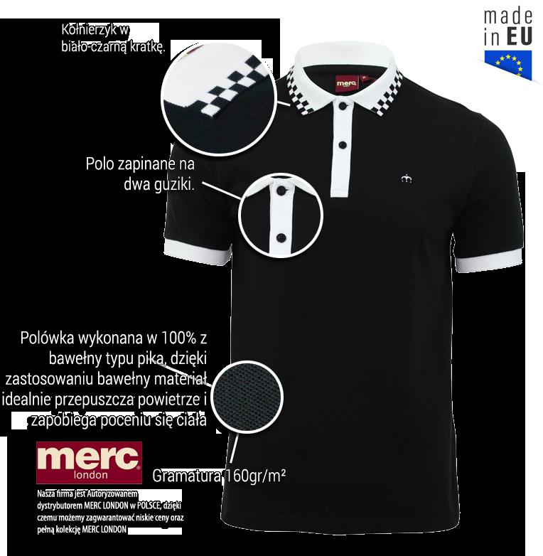 Koszulka Polo MERC LONDON NOVA czarna