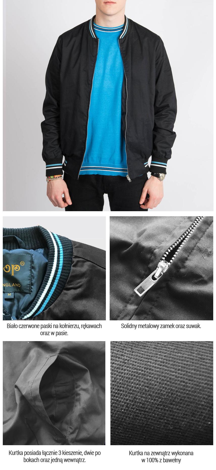 Kurtka MONKEY Jacket Pop Butique Czarna