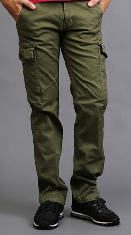 Długie spodnie z bocznymi kieszeniami